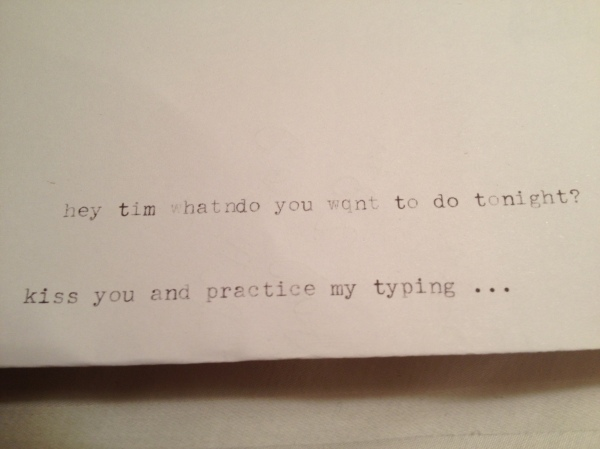 typewriter-flirting