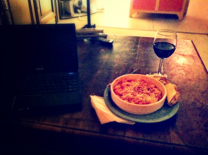 city dinner alone
