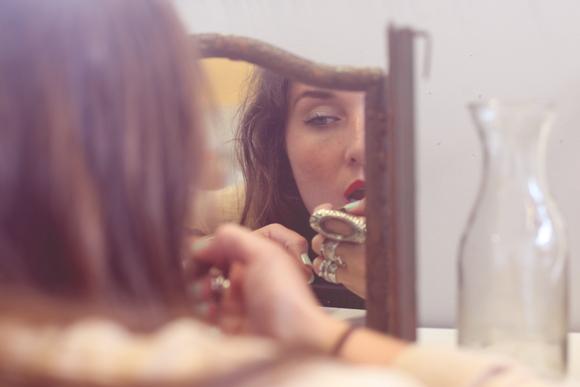 Lipstick-in-mirror