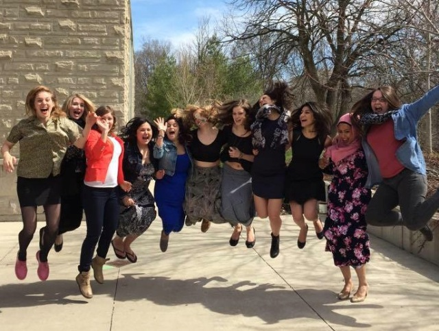 The ladies of the last master of arts in journalism at the University of Western Ontario